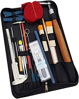 Piano Tuning Tools Kit Professional Tools Set Accessories Wrench Hammer Mute DIY Set with Carry Bag for Beginners and Prof...