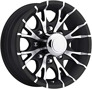 16 x 6 Viper T07 Black Machined Trailer Wheel 8 Lug, 3,750 lb Capacity
