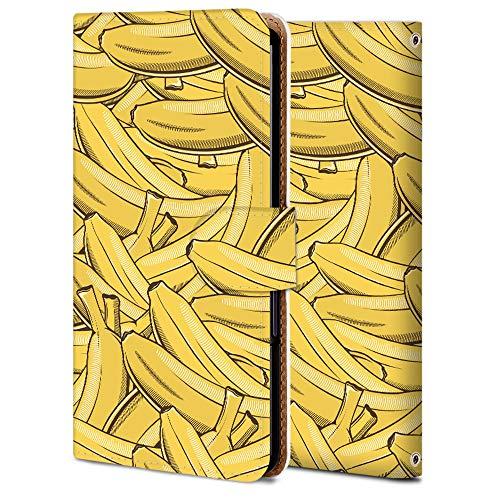 AQUOS zero2 手帳 ケース SH-01M 保護 カバー アクオス ゼロ2 専用 耐衝撃 カメラ穴 スタンド機能 高級 PUレザー SHV47 全面保護 横開き 軽量 薄型 WX996-果物-バナナ アニメ 食べ物 11769