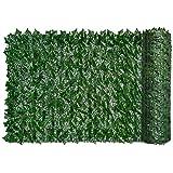 Siepe artificiale foglia verde foglia evy recinzione schermo pianta parete fiore finto erba contesto decorativo per protezione della privacy home balcone giardino 0,5x3m casalinghares