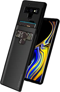 Goospery Galaxy Note 9 Case [Sliding Card Holder] Protective Dual Layer Bumper [TPU+PC] Cover with Card Slot Wallet for Samsung Galaxy Note 9 (Black) NT9-SKY-BLK