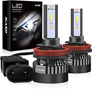 Automotive LED Headlight Bulbs Car All-in-One Mini Design Headlight Kit 10000LM 72W/Set 6000K Cool White Highly Waterproof 3 Yr Warranty (H11(H8 H9))