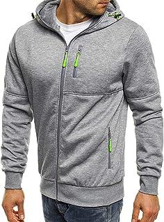 Mens Hoodie Sweatshirt Jackets Lightweight Long Sleeve Zipped Hoodie Jumper Tops Sweater