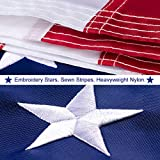 ★ MADE IN THE USA - WHEN YOU BUY THE AMERICAN FLAG: Proudly display your patriotic feelings. Fly your US flag with pride. Express your love and your admiration for this great country! ★ HIGHLY DURABLE AND FADE RESISTANT - Our 3x5 USA flags are expert...