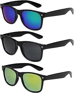 X-CRUZE® Nerd Sonnenbrille Retro Vintage Style Stil Design Unisex Brille - 45 verschiedene Farben/Modelle wählbar