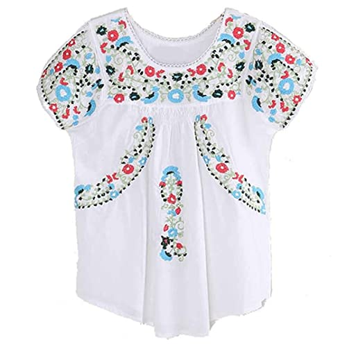 Embroidered Mexican Peasant Blouse Amazon Com