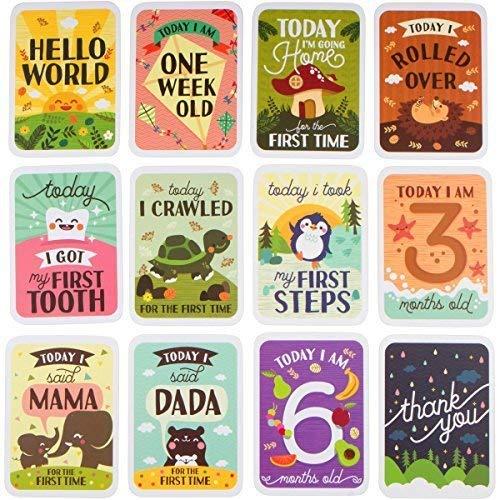 ENGLISH Milestone Card Baby Geschenkset Andenken : Amazon.de: Baby