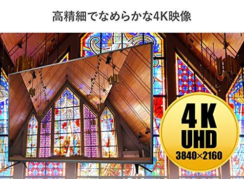 『I-O DATA 4K モニター 65インチ 4K(60Hz) PS4 Pro HDR ADS HDMI×3 DP×1 リモコン付 3年保証 土日サポート EX-LD4K651DB ブラック』の2枚目の画像
