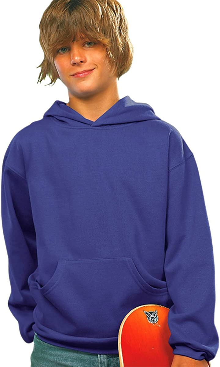 LAT Kids Fleece Lined Pullover Sweatshirt Pouch with Free shipping Max 71% OFF Pock Hoodie
