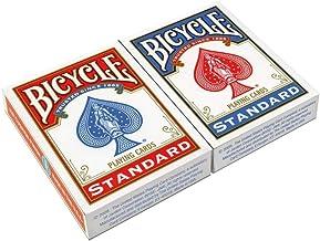 Bicycle- Rider Back Standard Index 2 Pack 2 Jeu de Cartes de Poker, 608081, Rouge E Bleu, 62. 5 x 88 Mmm
