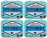 Trader Joe's Organic Peppermints, 1.41 oz Tin (Pack of 4) Gluten Free Vegan