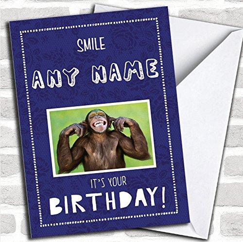 Grappige brutale aap aangepaste verjaardagskaart