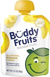 Sponsored Ad - Buddy Fruits Pure Blended Fruit To Go Apple and Banana Applesauce | 100% Real Fruit | No Sugar, Non GMO, Ve...