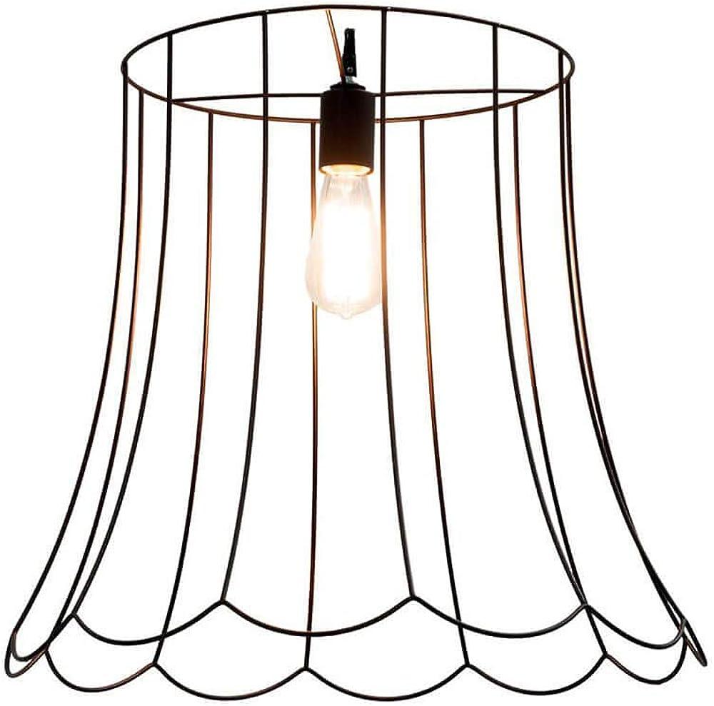 Karman lucilla, lampada a sospensione, con gabbia metallica Ø55 cm, color ruggine SE651VN