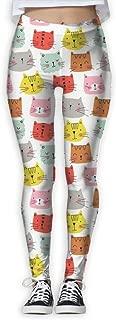 XMKWI Cats Tiger Womens Power Flex Gym Yoga Pants Workout Tights Leggings Trouser