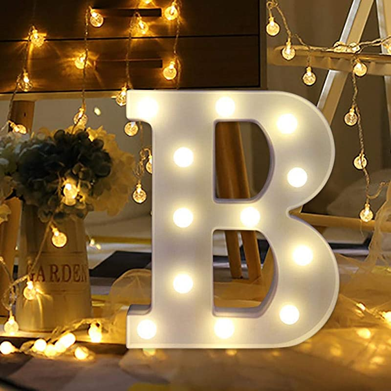 Light Up Letters Remote Control LED Letter Lights Alphabet Marquee Letter Sign For Home Birthday Wedding Party Decor Night Light B