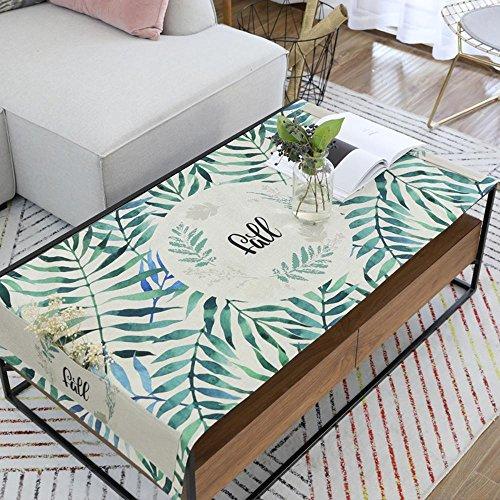 Longless Les petites plantes fraîches vent nordiques coton pad table basse imprimé des nappes de thé imperméable à l'eau 80 * 190cm