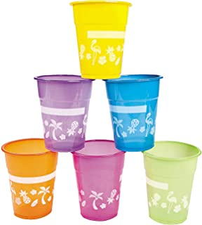 Fun Express Disposable Luau Party Cups | 50 Count | Great for Children's Parties, Hawaiian-Themed Celebrations, Summer Gatherings