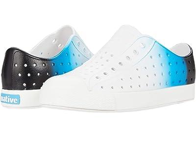 Native Kids Shoes Jefferson Ombre (Little Kid) (Shell White/Shell White/Glow Blue) Kid