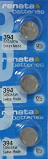 3 Renata 394 Button Cell watch Batteries