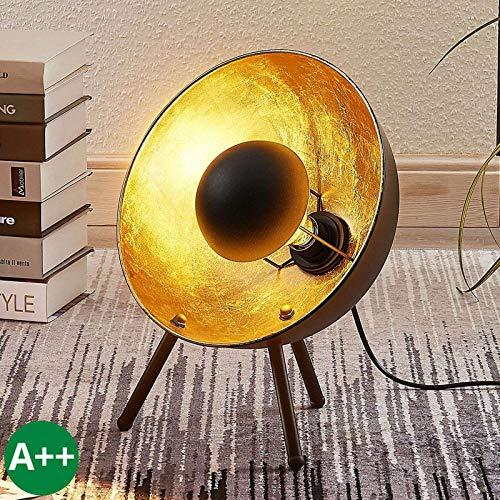 Lindby Dreibein Tischlampe 'Muriel' (Modern) in Schwarz aus Metall u.a. für Wohnzimmer & Esszimmer (1 flammig, E27, A++) - Tischleuchte, Schreibtischlampe, Nachttischlampe, Tripod, Wohnzimmerlampe