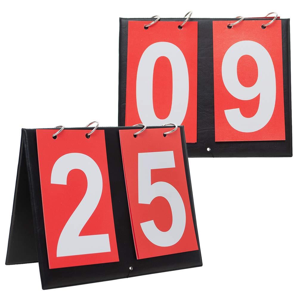Gogo 2 Juegos de marcadores de Mesa portátil para Deportes, 00 – 99, Color Red Card, tamaño Talla única: Amazon.es: Deportes y aire libre