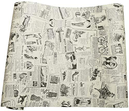 Vintage giornale di contatto carta autoadesiva in vinile mensola del cassetto per mobili Artigianato d'arte decorazioni per la casa 60 x300cm
