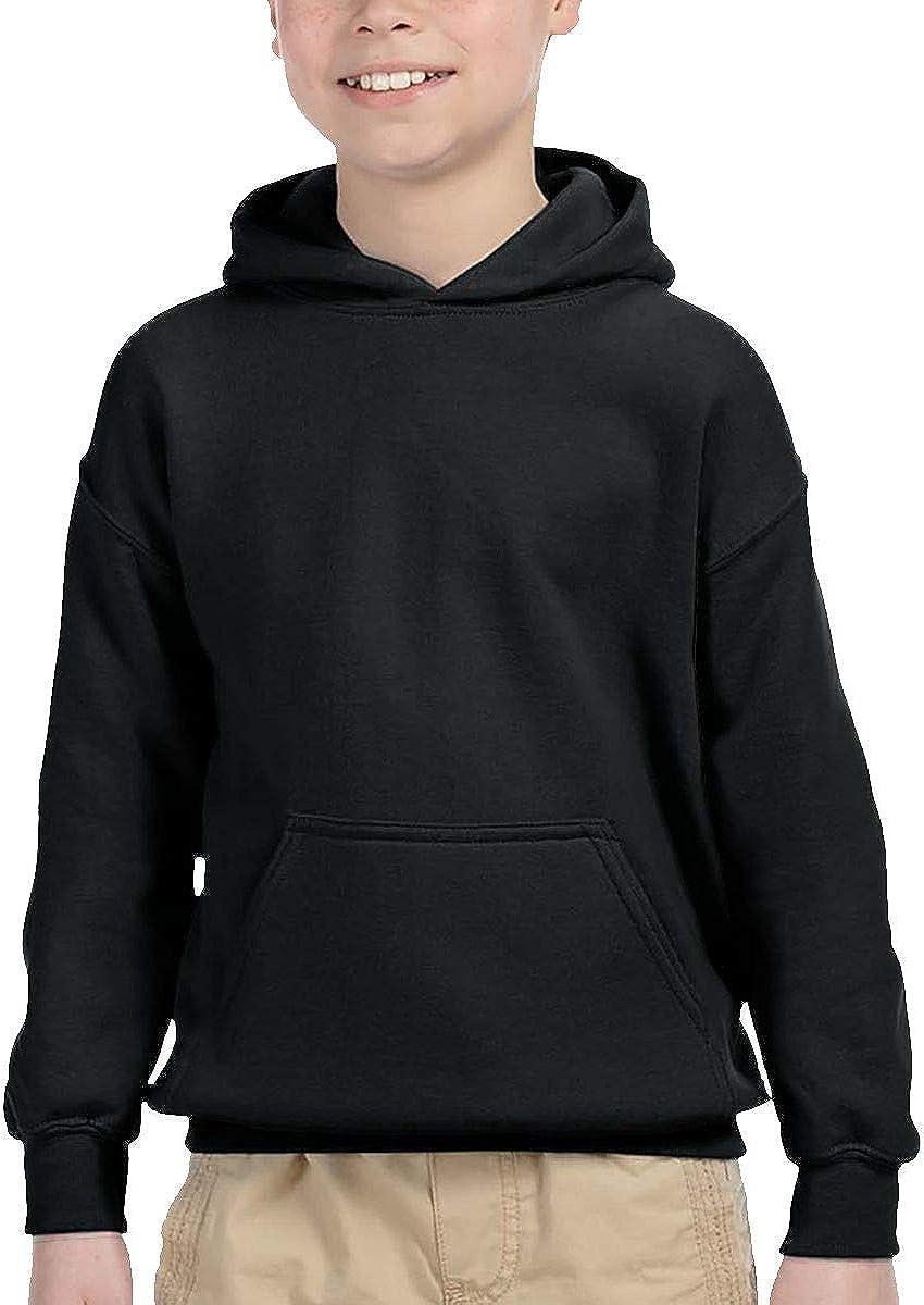 keiou Cixianfulu Children's Hooded Pocket Sweater Unisex for Boys/Girls/Teen/Kid's Black 5-6x