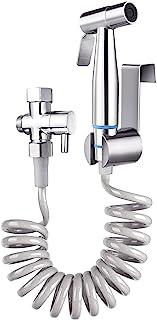 "Bidet Sprayer,TURLEE Bidet Sprayer Set Incude Handhold Bidet Sprayer & Retractable Spring Hose & Brass 7/8"" T-adapter and ..."