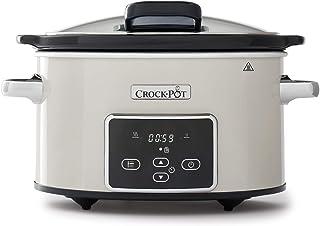 comprar comparacion Crock-Pot CSC060X Olla de cocción lenta digital para preparar todo tipo de recetas, 3.5 litros, Mushroom/Cromado