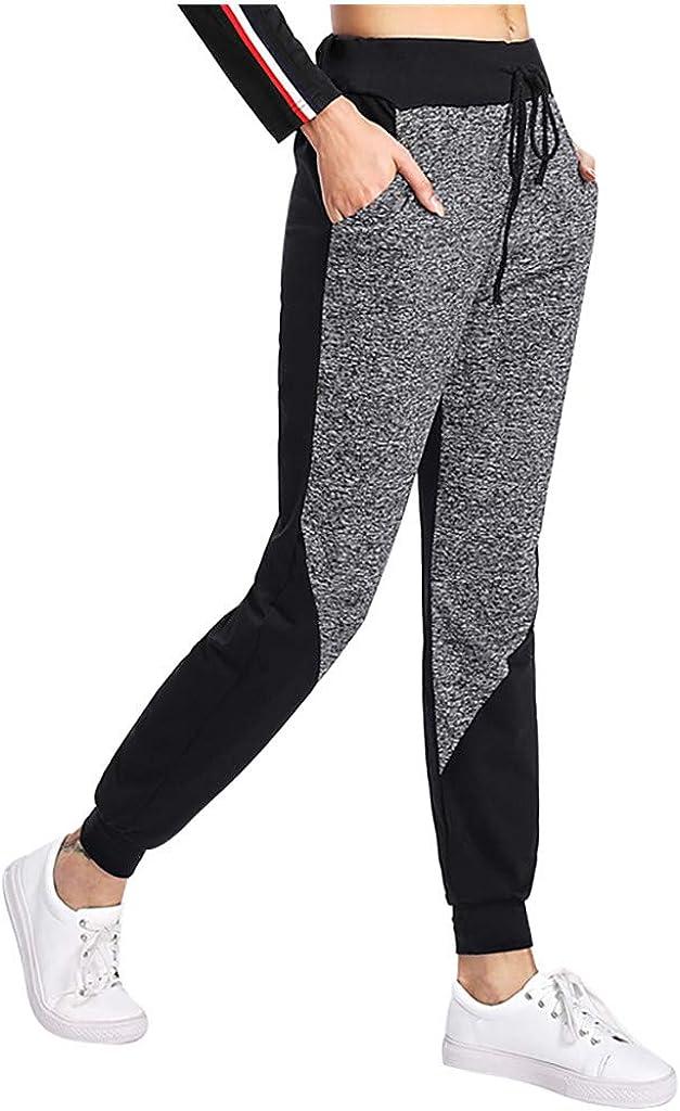 Hessimy Womens Sweatpants with Pockets,Womens High Waisted Joggers Sweatpants Baggy Loose Lounge Bottom Pocket Pants
