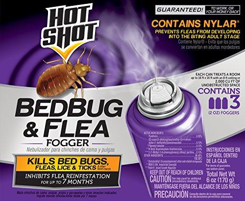 Hot Shot HG-95911 Bedbug & Flea Fogger, Aerosol, 6/3-2-Ounce (Pack of 18)