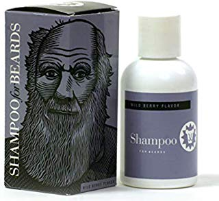 Ultra Grooming Shampoo & Wash for Beards by Beardsley and Company, Beard Care Products, Wild Berry 4 oz (Darwin)