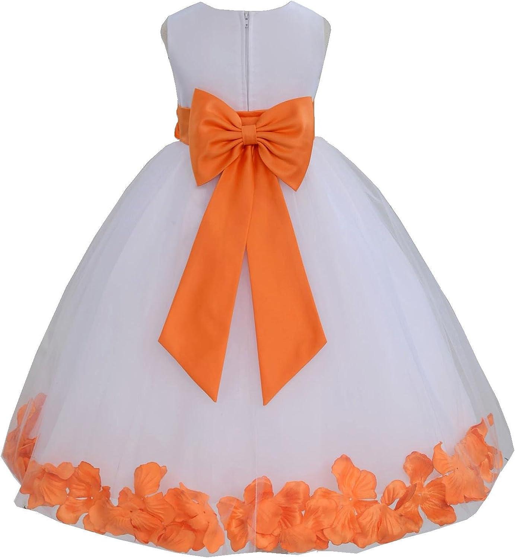ekidsbridal Wedding Pageant Flower Petals Girl Dress with Bow Tie Sash 302a