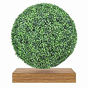 Silk Flower Arrangements Smart Gardener Boxwood Balll, 1 Pack 22 Inch Artificial Topiary Ball, Evergreen Faux Boxwood Ball Filler for Wedding, Party, Home and Indoor/Outdoor Decoration