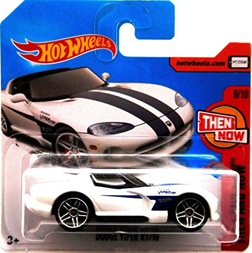 Hot Wheels 2017 Then and Now Dodge Viper RT/10 White 340/365 (Short Card)