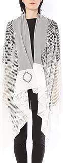 ミハイル ギニス アオヤマ MICHAIL GKINIS AOYAMA 着る ART ストール [登録意匠] 日本製 ハイテク ニット MADE IN TOKYO ギリシャ 大判 コットン Cotton Hand Print Colour Gradation/GRAY ハンドプリント グレー