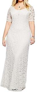97c87a0e758 Sankthing SANKT Women Plus Size Lace Evening Gown Elegant A-Line Skirt Dress