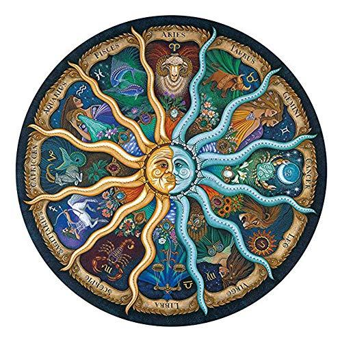 BIGJIYU Puzzles para Adultos 500 Piezas Zodiac Rompecabezas para la Damilia, Juguetes Educativos