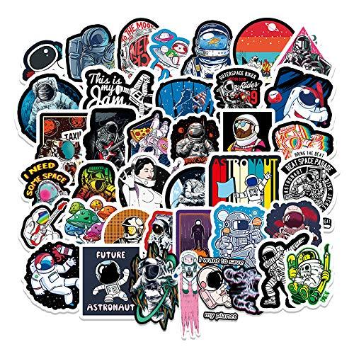 XXCKA 54 Fantasy Space Astronaut Pegatinas de Dibujos Animados Maleta Laptop Scooter Car Graffiti Stickers