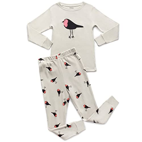 3ec3f30cb6 Leveret Kids   Toddler Horse Bird Girls Pajamas 2 Piece Pjs Set 100% Cotton  Sleepwear