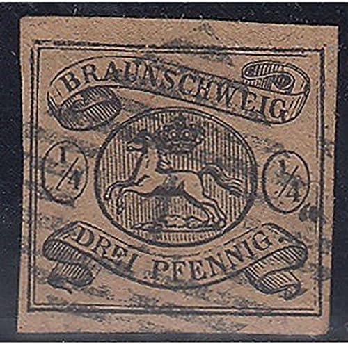Goldhahn BraunschWeiß Nr. 4 gestempelt geprüft Briefmarken für Sammler