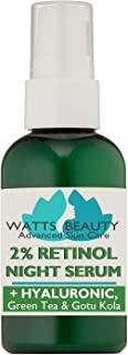Watts Beauty 2% Retinol Serum with Hyaluronic Acid for Smooth, Clear Skin - Perfect for Blemish Prone Skin, Oily Skin, Aging Skin, Wrinkles, Fine Lines, Large Pores, Complexion Issues and More - 4 oz