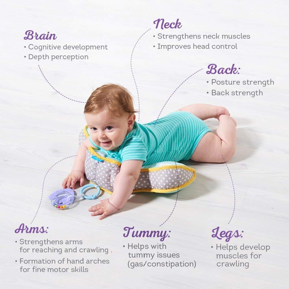 Taf Toys Baby Tummy Time Pillow   Perfecto para bebés de 20 a 20 meses de  edad, permite un desarrollo más fácil y fácil de criar, desarrollo natural,  ...