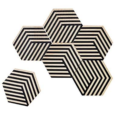 Areaware BOTT2B Table Tiles, Black