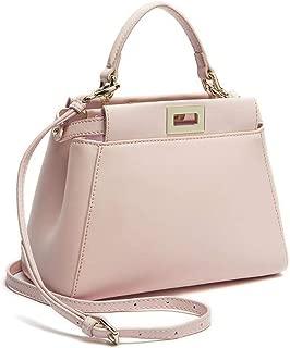 Classic Tote Peekaboo Women Split Leather Handbags Lady Bag Shoulder Bags