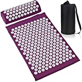 Chamtlnr Acupressure Mat and Pillow Set - at Home Back/Neck Pain...