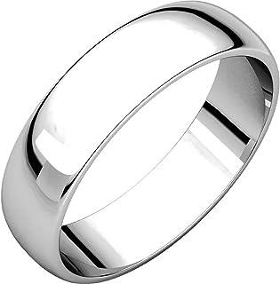 Men's and Women's Platinum, 5mm Wide, Plain Wedding Band
