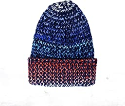 BESTOYARD Winter Knit Beanie Slouchy Warm Thick Plush Skullies Woolen Yarn Cap for Men Women