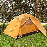 Bessport Zelt 2 Personen Ultraleichte Camping Zelt Wasserdicht 3-4 Saison Kuppelzelt Sofortiges Aufstellen für Trekking, Outdoor, Festival, mit kleinem Packmaß (Orange)